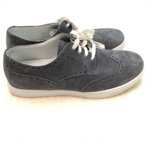 Rockport Oxford Suede Wingtip Gray Sneaker Shoes